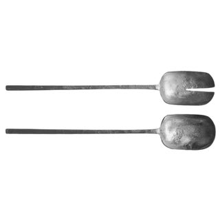 Roost Argenta Pewter Finish Salad Servers - a Pair