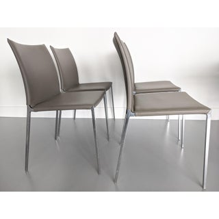 Zanotta Italian Designer Dining Chairs - Set of 4 Preview