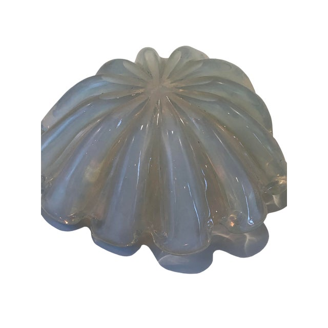 1950s Opaline Murano Bowl For Sale - Image 5 of 6