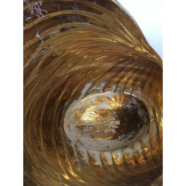 Gold Monumental Italian Ceramic Swan Nautilus Shell Floor Planter Painted in Gold and Silver For Sale - Image 8 of 12