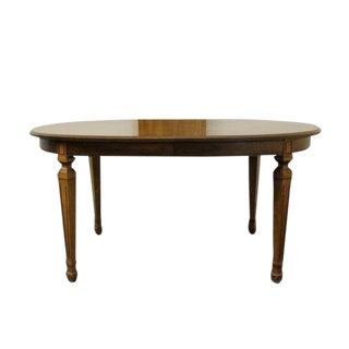 20th Century Traditional Stanley Furniture European Old World Style Parquetry Dining Table For Sale