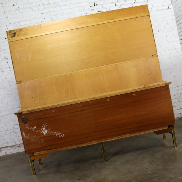 Mid Century Modern Credenza With Hutch Attributed to J. L. Metz Contempora Line For Sale - Image 6 of 13