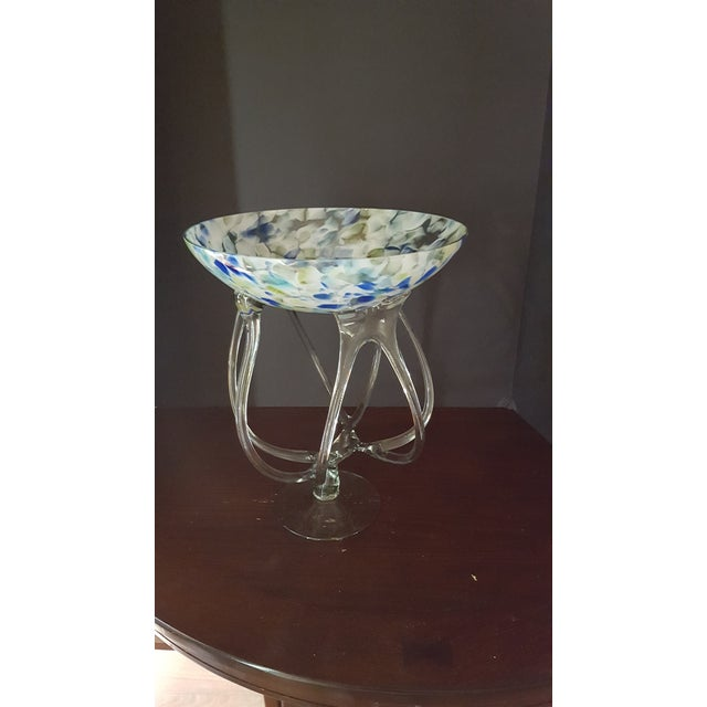 1900s Hand Blown Art Glass Bowl For Sale - Image 5 of 5