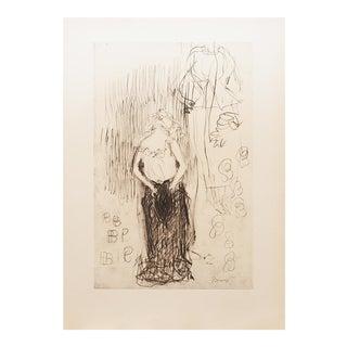 """1959 Pierre Bonnard """"Toilette"""", Art Nouveau Hungarian Lithograph For Sale"""