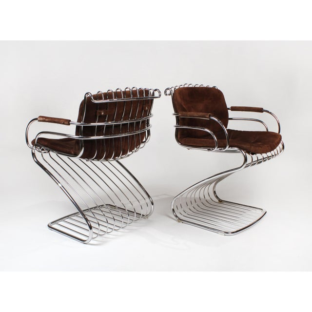 Gastone Rinaldi Italian Modernist Solid Steel Dining Chairs for Rima - Set of 6 For Sale - Image 9 of 10