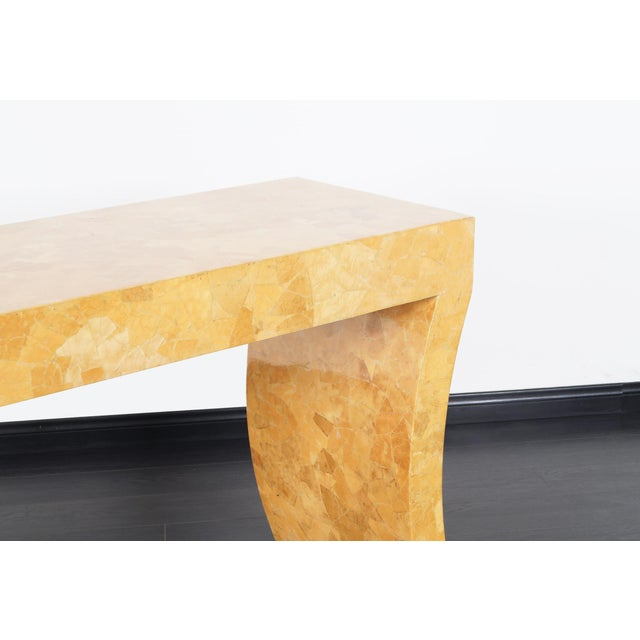 Jimeco ltda Vintage Craquelure Console Table by Jimeco Itda For Sale - Image 4 of 9