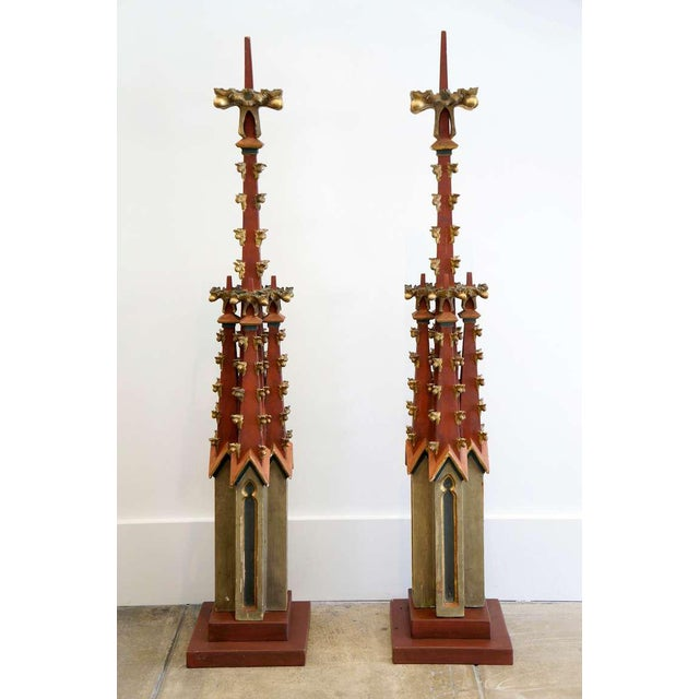 Monumental Gothic Spires. From the estate of Don Yarton (Ohio, Texas, 1941-2013), internationally recognized antiques...