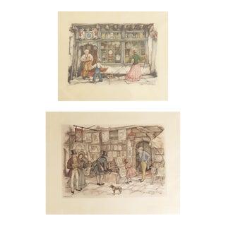 Anton Pieck Lithographs - a Pair For Sale