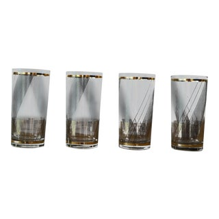 Culver Mid Century Glasses - Set of 4 For Sale