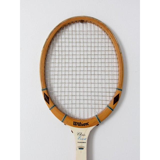 Blue 1970s Wilson Chris Evert Tennis Racquet For Sale - Image 8 of 12