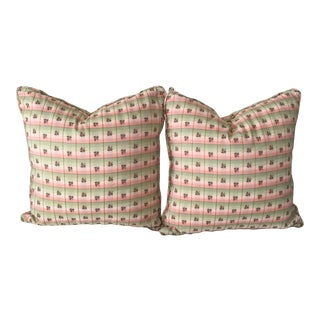 Scalamandre Silk Pillows - A Pair