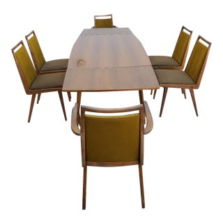 1960's Mid Century Modern German Dining Set - 7 Pieces For Sale