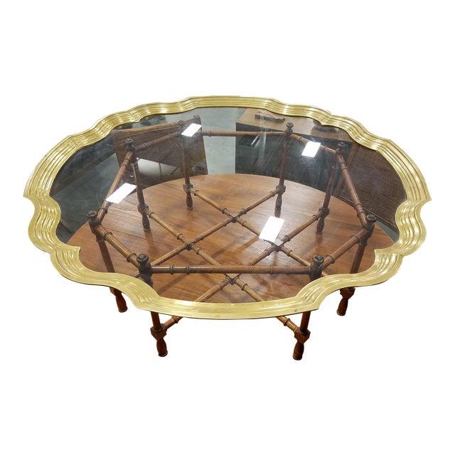 Baker Furniture Pie Crust Coffee Table - Image 1 of 6