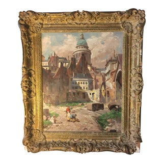 Antique Oil on Canvas Painting For Sale