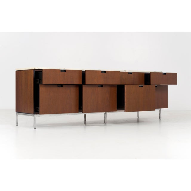 Mid-Century Modern Florence Knoll Marble Top Credenza For Sale - Image 3 of 10