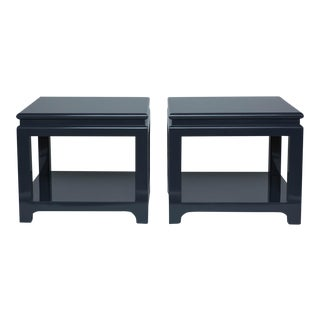 Pair of Large Lacquered End Tables
