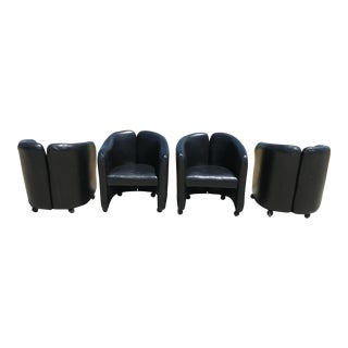 "In the Style of Eugenio Gerli for Tecno Italian ""142 Series"" Chairs - Set of 4 For Sale"