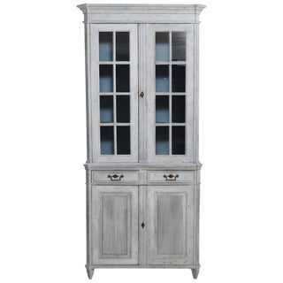 Swedish Gustavian Painted Book Cabinet, 19th Century For Sale