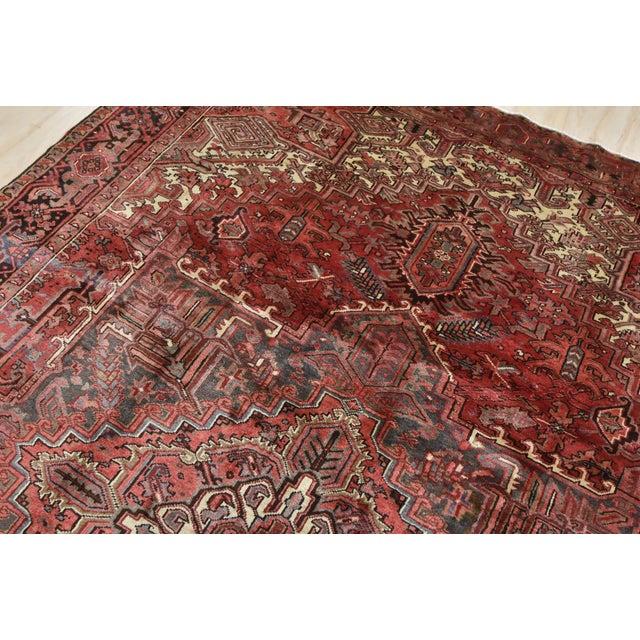 Textile Vintage Persian Heriz Rug - 8'1'' X 11'3'' For Sale - Image 7 of 13