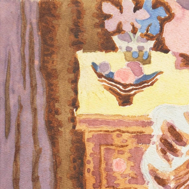 'Woman Seated' by Victor Di Gesu; 1955, Paris, Louvre, Académie Chaumière, California Post-Impressionist, Lacma For Sale In Monterey, CA - Image 6 of 9