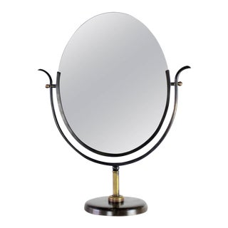 Charles Hollis Jones Vanity Mirror in Bronze & Brass, 1970s For Sale
