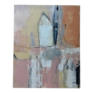 Original Contemporary Abstract by Rick Griggs Casa Pink For Sale