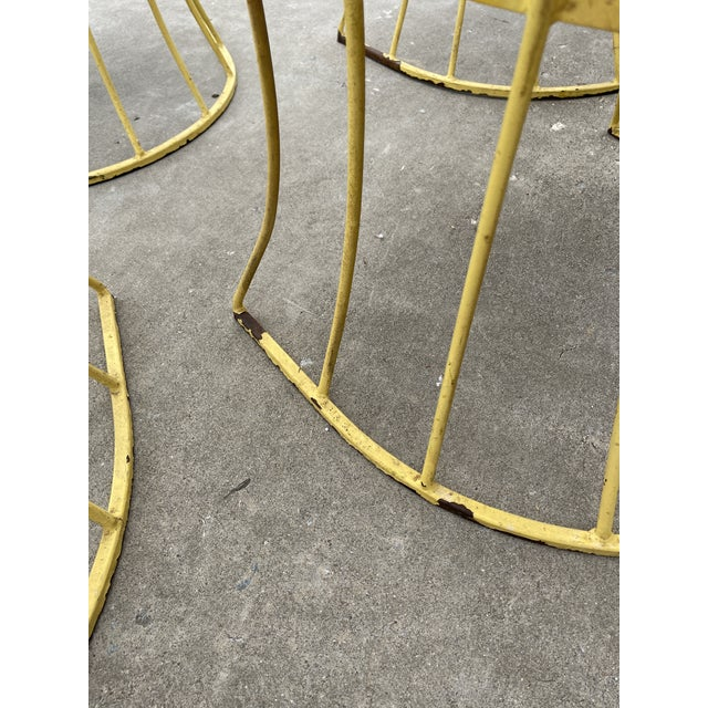Metal Mid Century Iron & Vinyl Patio Chairs - Set/4 For Sale - Image 7 of 8