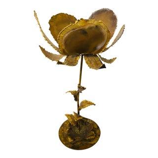 Vintage Mid-Century Friedle Style Torch Cut Floral Sculpture For Sale