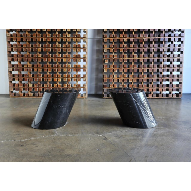 Contemporary Marble Stump Tables by Lucia Mercer for Knoll - a Pair For Sale - Image 3 of 11
