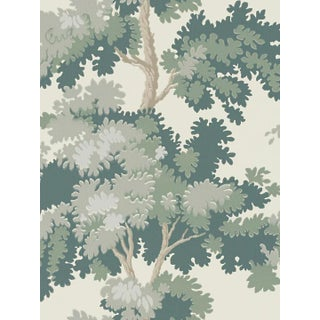 Scalamandre Raphael, Green Wallpaper For Sale