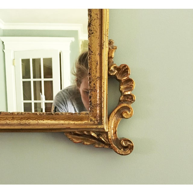 Rococo Vintage Rococo Style Shell Motif Gilt Mirror For Sale - Image 3 of 5