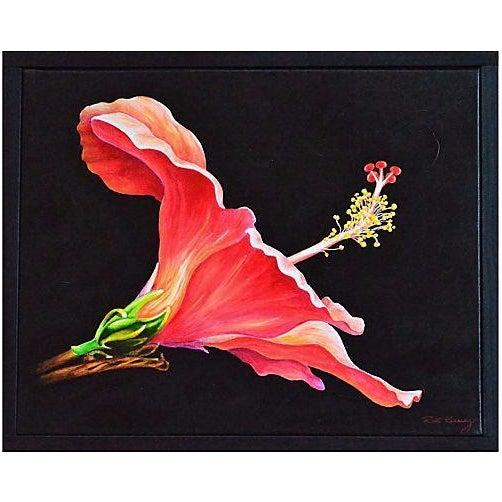 Hibiscus Original Painting - Image 1 of 2