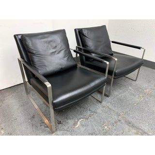 Camerich Leman Lounge Leather Arm Chairs- a Pair Preview