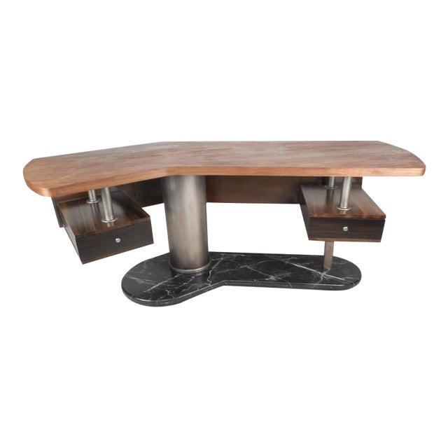 Mid-Century Modern Boomerang Desk For Sale