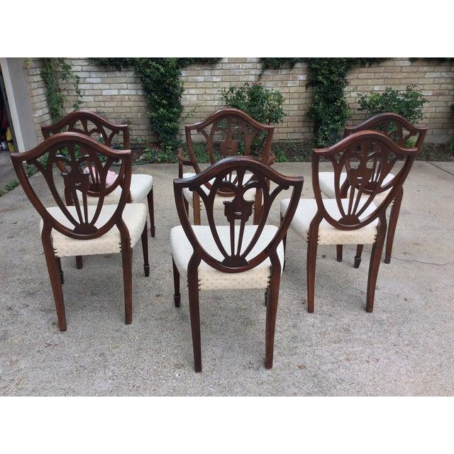 Hepplewhite Mahogany Shield Back Dining Chairs-S/6 - Image 6 of 10