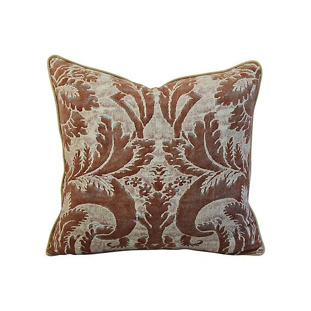 "Fortuny 24"" X 22"" Custom Tailored Italian Mariano Fortuny Glicine Feather/Down Pillow For Sale - Image 4 of 9"