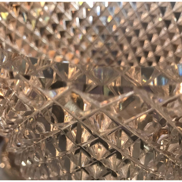 Late 19th Century Diamond Cut Crystal Vase For Sale - Image 10 of 11