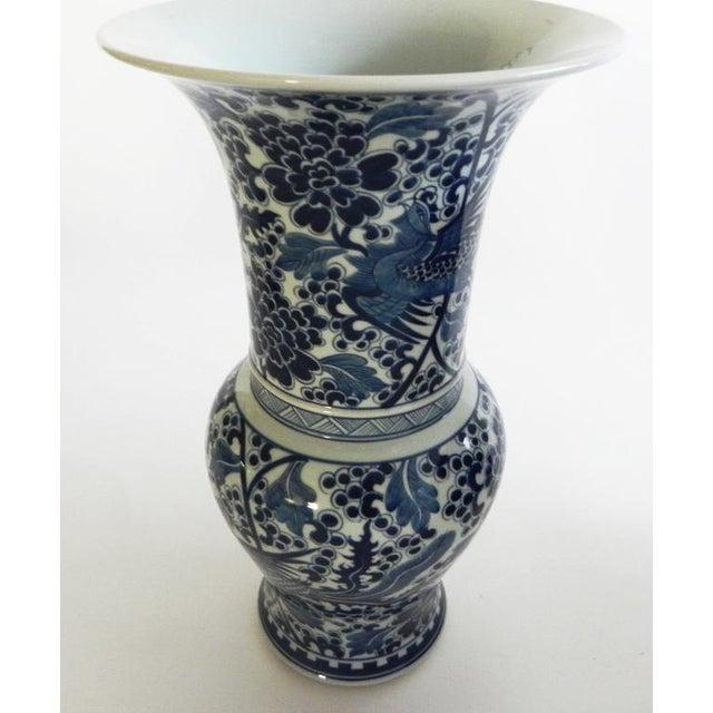 Phoenix Tall Flared Porcelain Vase For Sale - Image 4 of 9