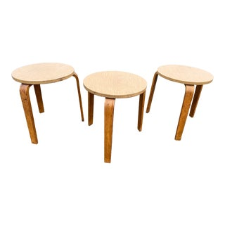Mid Century Alvar Aalto Stack Stools - Set of 3 For Sale
