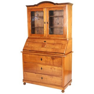 Biedermeier Cherrywood Secretary For Sale