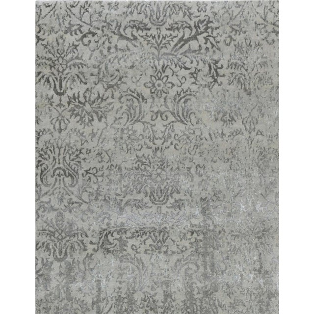 Pasargad Bamboo Silk & Wool Rug - 8′1″ × 10′ For Sale - Image 4 of 6