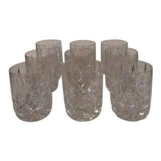 Gorham Lady Anne Lowball Hand Blown Crystal Glasses - Set of 9 For Sale