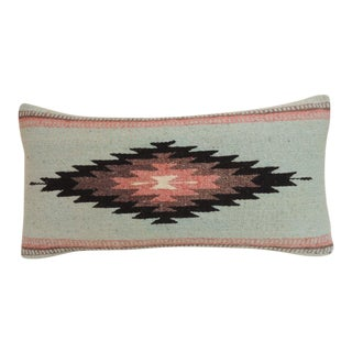 Vintage Southwestern Style Woven Bolster Decorative Pillow For Sale