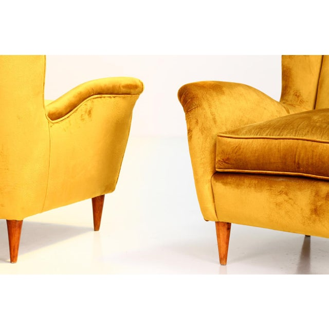 I.S.A. Bergamo Gio Ponti Pair of Armchairs 1940 for Isa Bergamo For Sale - Image 4 of 6