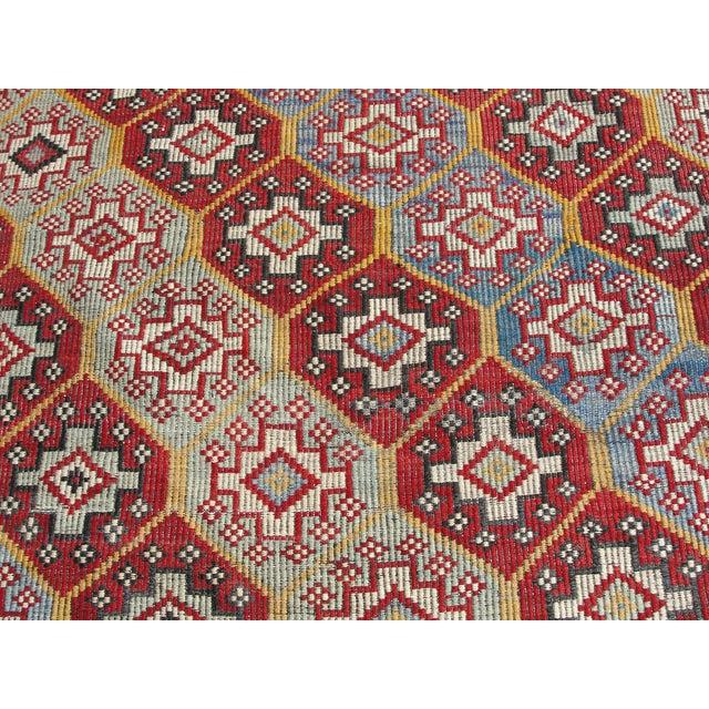 Textile Vintage Turkish Kilim Rug - 6′4″ × 10′1″ For Sale - Image 7 of 11