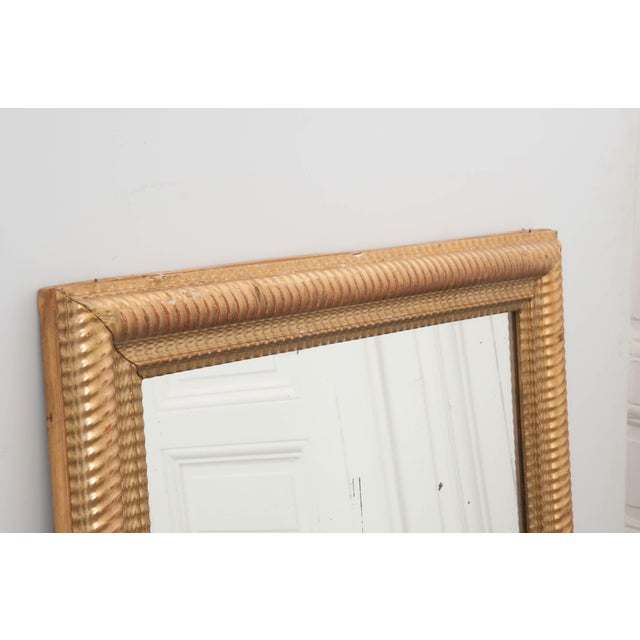 19th Century French 19th Century Rectilinear Gold Gilt Mirror For Sale - Image 5 of 9