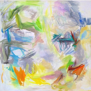 """Large Abstract Painting by Trixie Pitts """"Bondi Beach"""""""