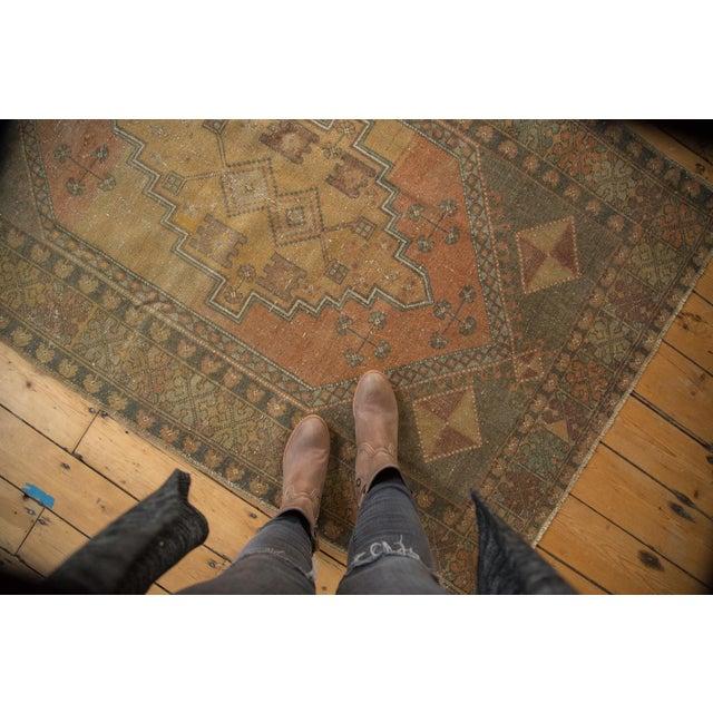 "Vintage Distressed Oushak Rug - 4'1"" x 6'7"" - Image 3 of 11"