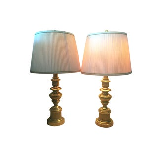 Stiffel Mid-Century Solid Brass Lamps