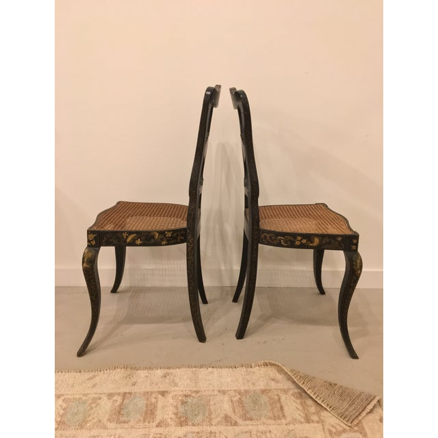 Pair of French Chinoisere Chairs For Sale - Image 9 of 10